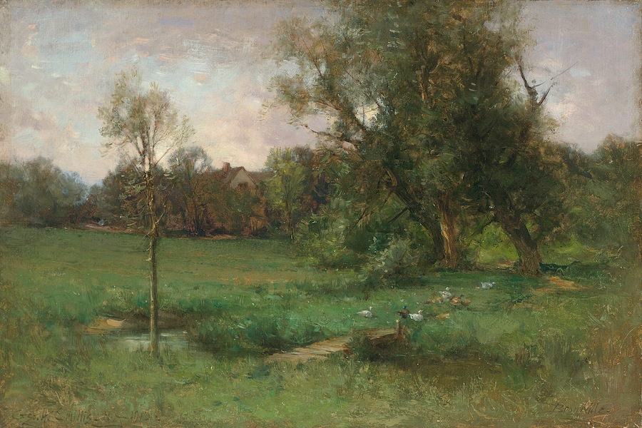 George Henry Smillie's Bronxville, 1912, oil on canvas