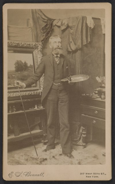 George Henry Smilliein his studio at 337 4th Ave., NYC