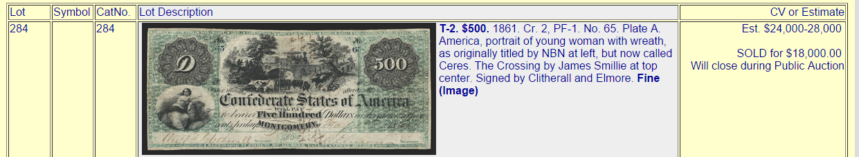 James Smillie 500-dollar bill